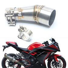 Motorcycle Exhaust Muffler Middle Link Adapter Pipe for kawasaki Ninja 250 250R
