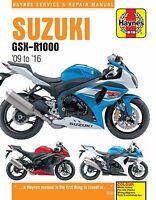 Suzuki GSX-R1000 GSXR1000 2009 - 2016 Haynes Manual 6345