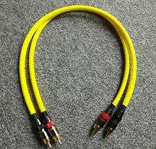 *HIFI Special* Monster/Europa RCA Phono Cable Yellow braided 0.5m Pair
