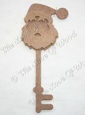 3D SANTA KEY Christmas wooden craft shape MDF