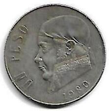 Estados Unidos Mexicanos Un Peso Coin 1980 !