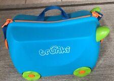 Trunki Koffer 4 Rollen Kinder Trolley Zum Drauf Sitzen Blau Orange Wie Neu 1 X