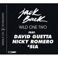 JACK BACK FEAT DAVID  GUETTA& NICKY ROMERO,SIA - WILD ONE CD 2 TRACK SINGLE NEW+