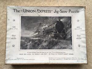 "SCARCE C1930s VINTAGE A.V.N.JONES&Co LONDON THE ""UNION EXPRESS"" JIG-SAW PUZZLE"