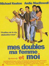 Affiche Pliée 120x160cm MES DOUBLES MA FEMME ET MOI (1996) Michael Keaton TBE