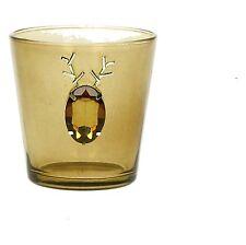 Teelichthalter Glas Hirsch Edelsteinoptik amber, Pomax Belgien