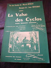 Partition La valse des Cyclos Thyveirat Music Sheet