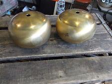 Pair of New Old Stock Spun Brass Hollow Balls - Vintage Lighting Parts