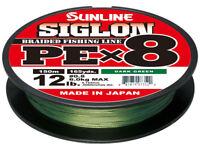 Sunline Siglon PEx8 Dark Green Braid 165 Yards Braided Bass Fishing Line