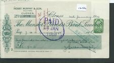 CHEQUE - CH1454 -  USED -1928/30 - MUNSTER & LEINSTER BANK, CLONES