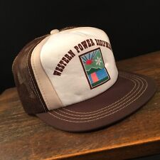 Vintage Hat Western Power Equipment Trucker Cap Adjustable Snapback Mesh
