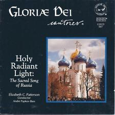 GLORIAE DEI CANTORES Holy Radiant Light: Sacred Song of Russia CD LIKE NEW