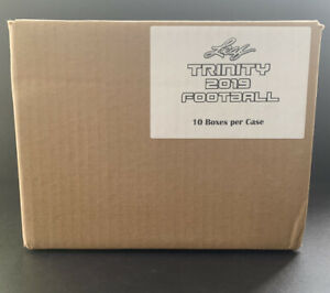 2019 Leaf Trinity Football Factory Sealed 10-box Case Possible Murray Metcalf