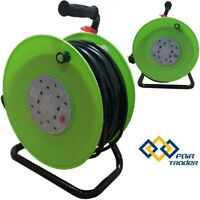 50M 4 WAY HEAVY DUTY 50 METER EXTENSION CABLE REEL LEAD MAINS SOCKET 13AMP PIFCO
