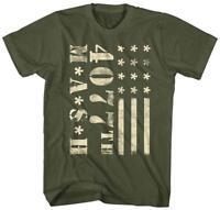 MASH TV Show Retro Vintage Army Military Flag Mens Graphic Tee T-Shirt Adult