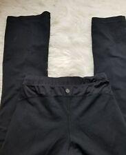 Lululemon yoga black mesh insert size 6 wide bottom pant-E15