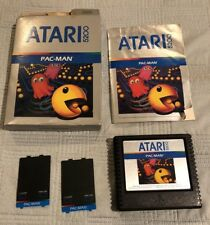 Atari 5200 Pac-Man 1982 Complete in Box with Instructions and Overlays