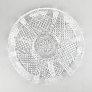 Glasplatte - Kristallglas - Schale - Anbietschale - Fächer - 30cm - Italy