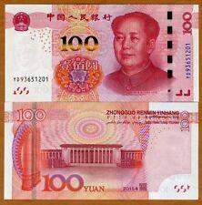 China, 100 Yuan, 2015, Pick New, Improved Security, UNC > Mao Tse-tung