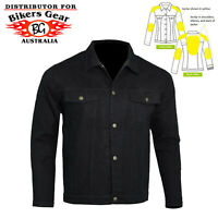 Australian Bikers Gear CE Armoured Motorcycle Denim Jacket with DuPont™ Kevlar®