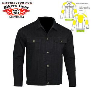 Mens Motorcycle Motorbike CE Armoured Motorcycle Denim Jacket lined with Kevlar®