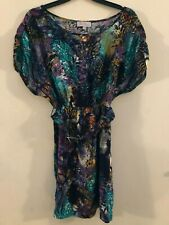 Be Beau multicoloured belted tunic top size 10