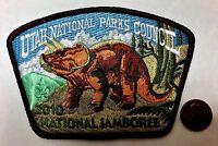 UTAH NATIONAL PARKS COUNCIL OA 508 363 2010 BSA JAMBOREE PATCH JSP TRICERATOPS