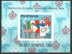 PHILIPPINES MNH SOUVENIR SHEET MEXICO 68 OLYMPICS