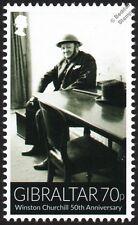 Sir Winston Churchill in Steel Helmet (WWII Dover Air Raid) War Stamp