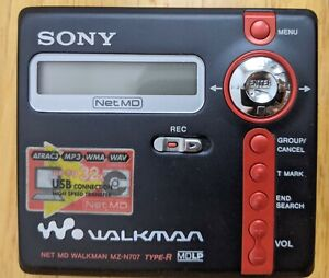 SONY Walkman MZ-N707 Portable Minidisc Recorder Net MD Type-R MDLP +Dock Adapter
