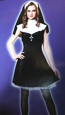 ADULT WOMENS SML MED NUN HALLOWEEN COSTUME TOTALLY GHOUL DRESS