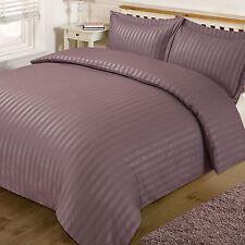 Dreamscene Satin Stripe Quilt Cover With 2 Pillow Cases Duvet Bedding Set King