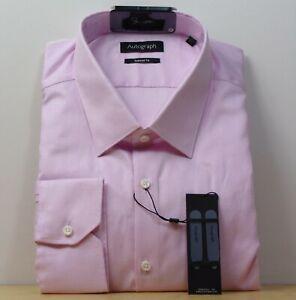 "M&S AUTOGRAPH Supima Cotton TAILORED Fit SHIRT ~ Size 18.5"" ~ PINK Mix"