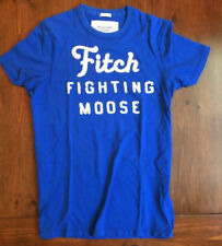 Abercrombie & Fitch Men's Muscle T-Shirt Fitch Fighting Moose Blue & White L, p3