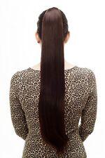 Postiche/Tresse Très Long Lisse Épingle à Cheveux-Papillon 70 Cm Marron