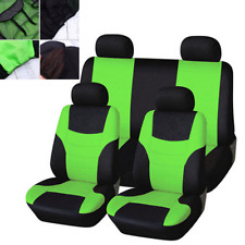 8PCS Seat Covers Protector Full Set Green Breathable Fit For Car Truck SUV Van