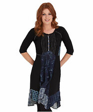 Patternless 3/4 Sleeve Tunic Dresses for Women