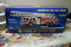FRANKLIN MINT E-ONE EMERGENCY ONE  TOWER PLATFORM FIRE TRUCK LOT 0 0 0 01