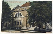 Vintage Postcard (1909) - N Woodward Meth Epis Church, Detriot, Mi - Posted 1798