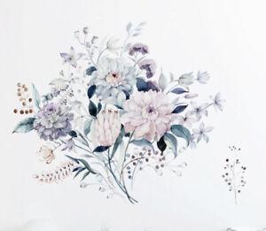 """NEW 36"""" x 30"""" Vintage Toned Pastel Colors Flower Arrangement Vinyl Wall Decal"""