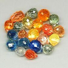 Lot de 21 Saphirs de Tanzanie, taille briolette/5,73 carats