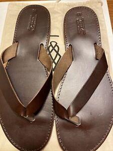 Genuine Leather By Nikola Handmade In Greece Sandals Size 45