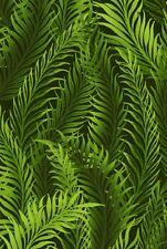 Fabric #2528, Green Fern Leaves on Black, Jason Yenter, IBF, Sold by 1/2 Yard