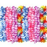 12pcs Hawaiian Flower Garland Leis Necklace Fancy Dress Hawaii Beach Party Decor