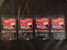 CLASSIC '57  T-BIRD RED LINE CLUB HOT WHEELS Lot Of 4 DIFFERENT COLORS