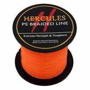Hercules Orange 6lb-300lb PE Super Power Extreme 100M-2000M Braid Fishing Line