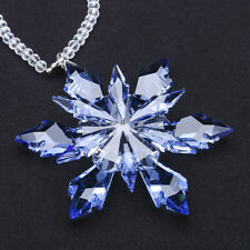 Crystal Snowflake Ornaments with Gift Box Home Window Christmas Tree Decoration
