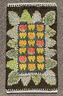Vintage Scandinavian Swedish Wool Rya Weaving Rug Wall decor Floor Carpet 1960s