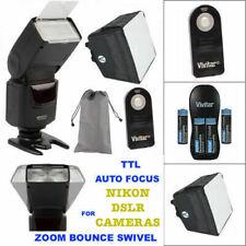 AF TTL HD FLASH + CHARGER + DIFFUSER + REMOTE FOR NIKON D3100 D3000 D3200 D3300
