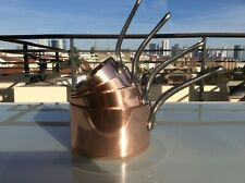 Set of 4  copper pans stainless steel Made in France By Mauviel 2.7 mm sauce pan